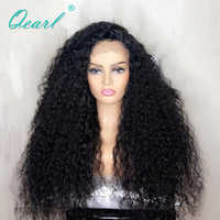 Dicke Dichte Lockige Spitze Front Menschliches Haar Perücken Schwarz Farbe 13x4 Spitze Perücke Brasilianische Remy Haar Kostenloser Teil qearl Haar