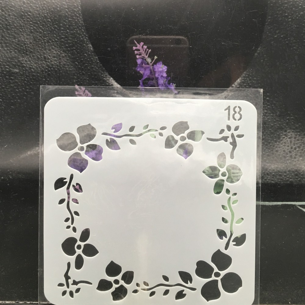 15cm Garland Square DIY Layering Stencils Wall Painting Scrapbook Coloring Embossing Album Decorative Card Template