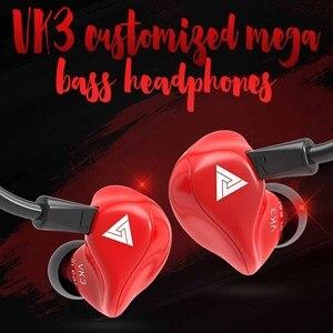 Image 2 - Оригинальные проводные наушники вкладыши QKZ VK3, наушники вкладыши 3,5 мм, спортивные Микронаушники для iPhone, Xiaomi с микрофоном