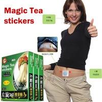 Free Shipping Weight Loss Stickers Magic Tea Stickers 10 Pcs 2 Box Lazy Slim Stickers