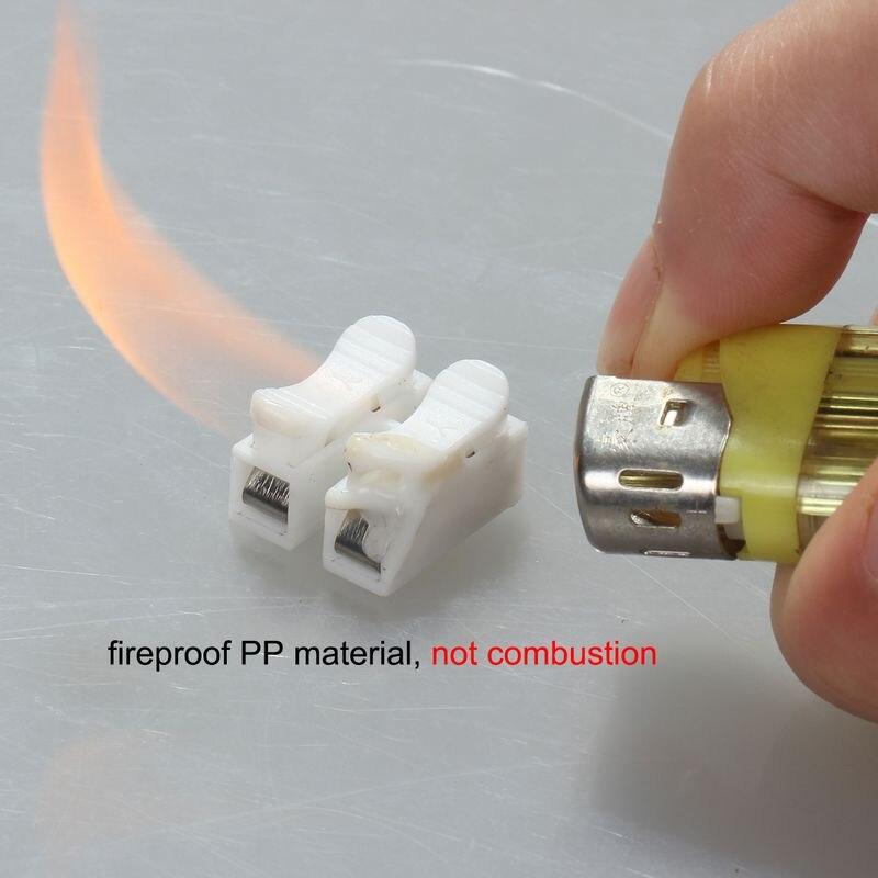 100 stücke 2 Pin Draht anschlüsse Einfach Elektrische Kabelklemmen ...