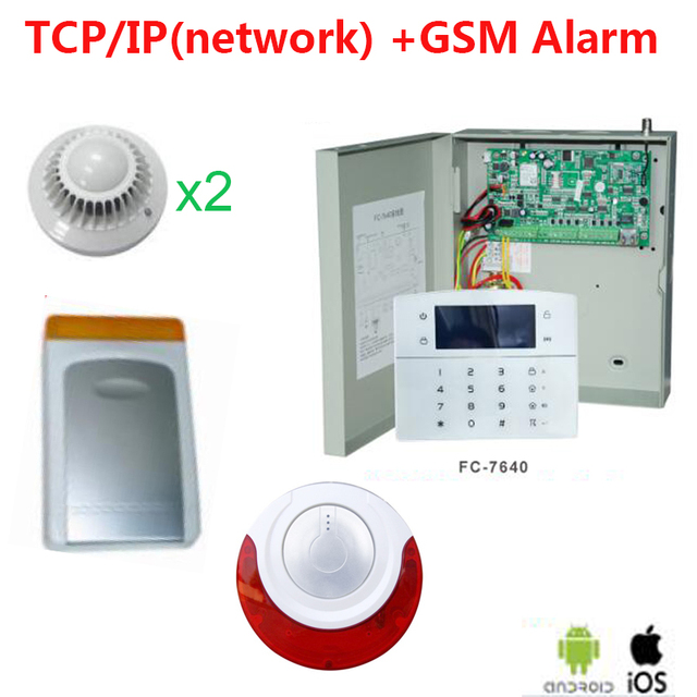 Wired Security Systems | Focus Box Security Panel Wired Smoke Detector Wired Alarm Siren Gsm