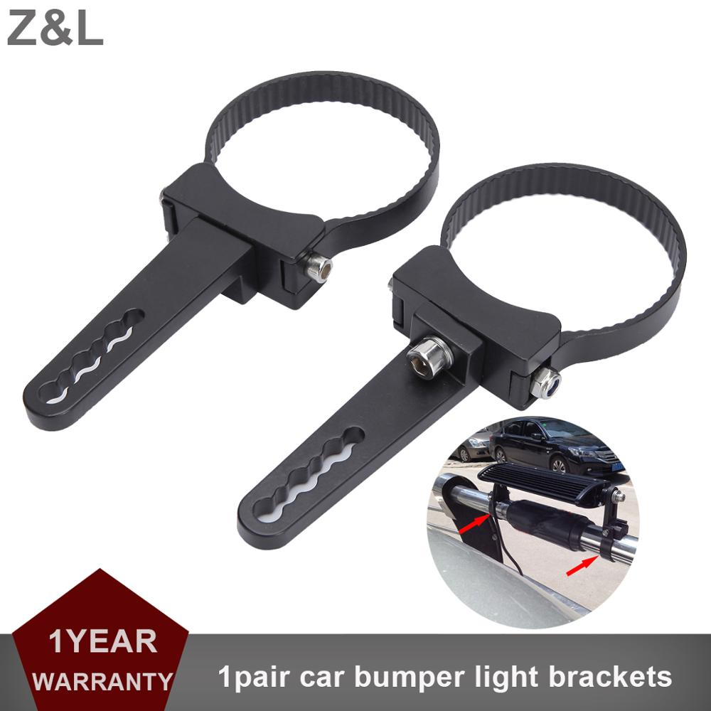 1-3 Inch Offroad Light Bracket Car Bumper Round Bullbar LED Light Bar Rotate Clip Holder Bull Bar Driving Work Lamp Clamp Holder
