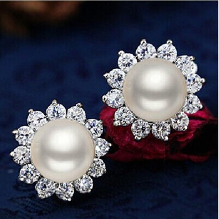 925 Silver Real Natural Genuine Freshwater Pearl Earrings Are Women Send Mom Price Shipping
