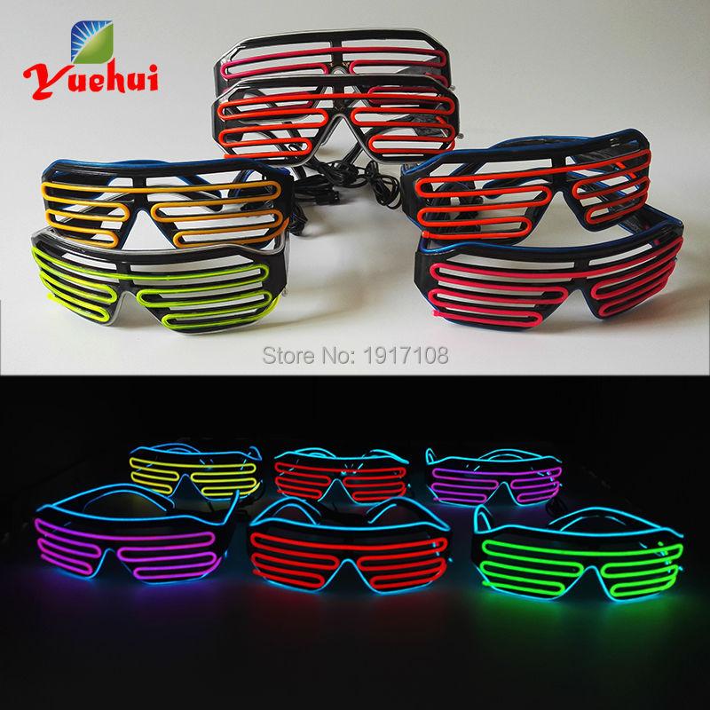Новый дизайн 2 цвета световой EL Провода EL Очки LED Очки неоновый свет по dc-3v звуковая активация el драйвер для вечеринки украшения