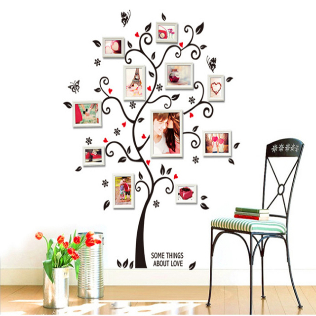 Room Photo Frame Decoration Family Tree Wall Decal Sticker Poster on ...