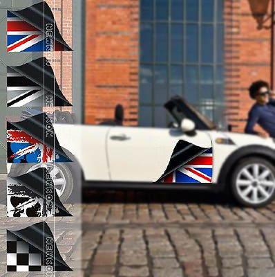 Union jack car door decoration sticker decal for bmw mini cooper r55 r56 r60 r61 f55 f56 in car stickers from automobiles motorcycles on aliexpress com