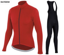 RATDDW Winter Fleece Cycling Jersey and Cycling bib pants Sets Roupa Ciclismo Bicycle Clothing Ciclismo Maillot Bike Clothes
