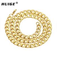 Koper Goud Ketting Gilded 9 MM 55 cm Cubaanse Collier heren Sieraden Curb Link Ketting Groothandel
