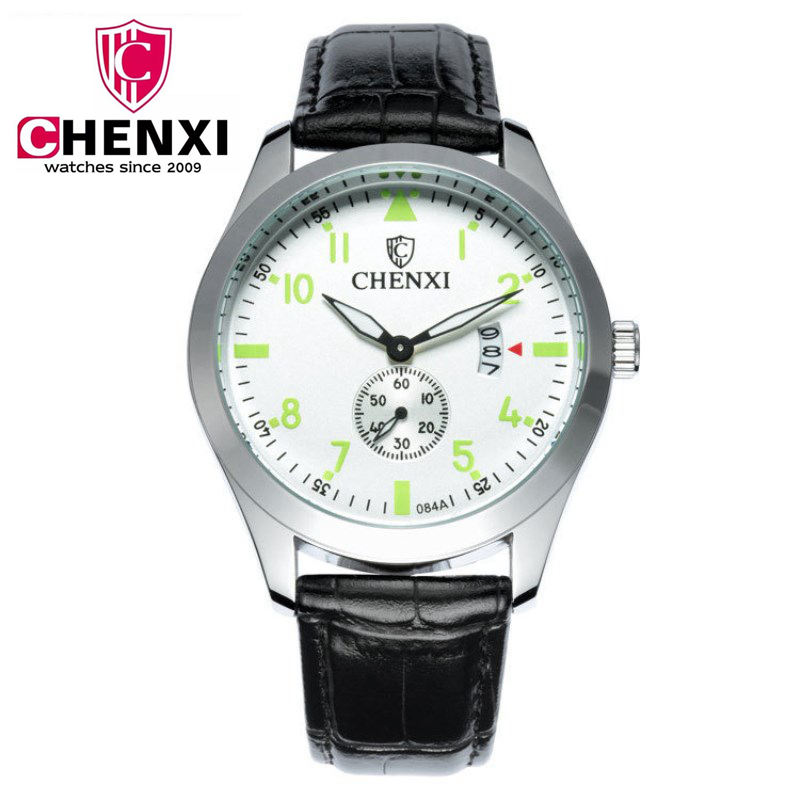 CHENXI Top Brand Luxury Watch Man Business Leather Bracelet Strap Quartz Watches High Quality Second Dial Male Wristwatch NATATE chenxi business men watch luxury brand leather bracelet wristwatch life waterproof for sport top quality quartz clock pengnatate