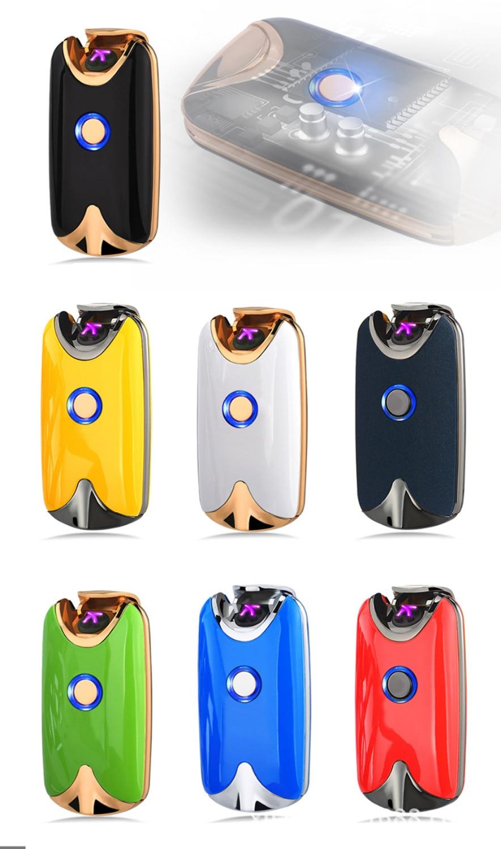 Интеллектуальный USB индукции Arc двойной своих легче перезарядки отпечатков пальцев металла ветрозащитный нет газа курение Regaloed