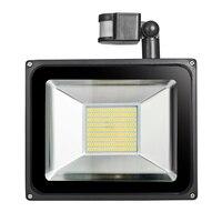 2 SZTUK GERUITE Czujnika Powodzi Światła LED 100 W 220 V SMD 5730 Reflektory Oświetlenia Zewnętrznego Czujnika Podczerwieni Indukcja Powodzi Lampa LED