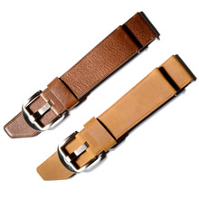 Genuine Cow Leather Simplicity Knife Tail Design Style Watch Strap 20mm 22mm 24mm  Wristband Accessories For Men # B