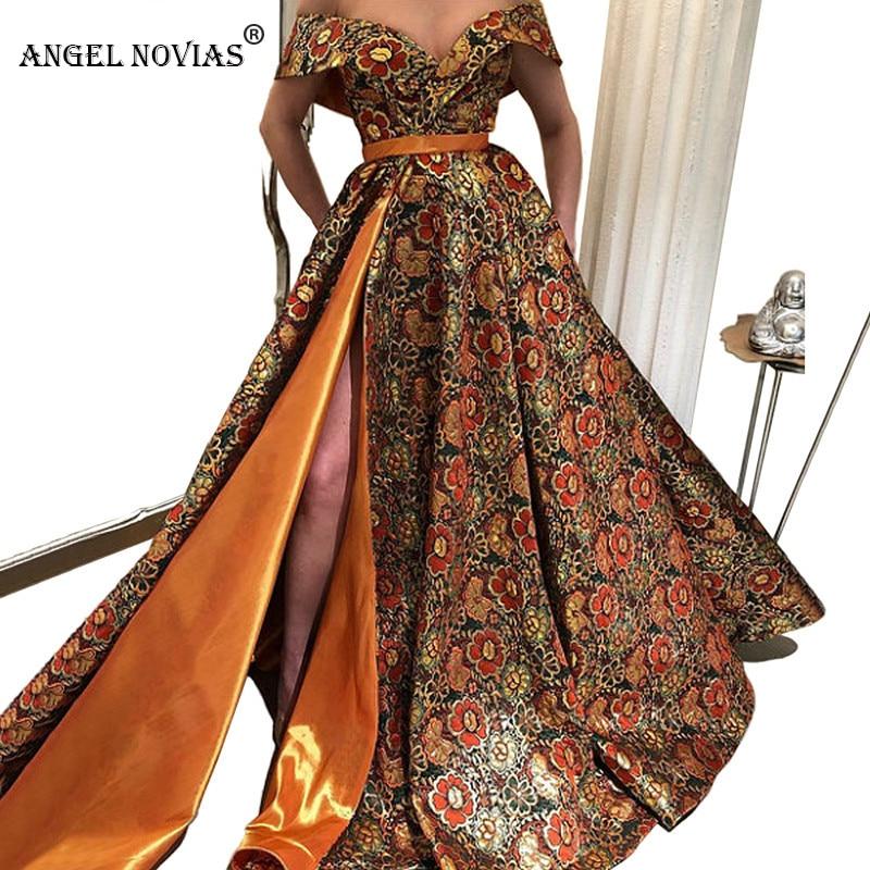 ANGEL NOVIAS Long Elegant Abendkleider Saudi Arabic Formal Women   Evening     Dresses   2018 Vestidos De Cerimonia