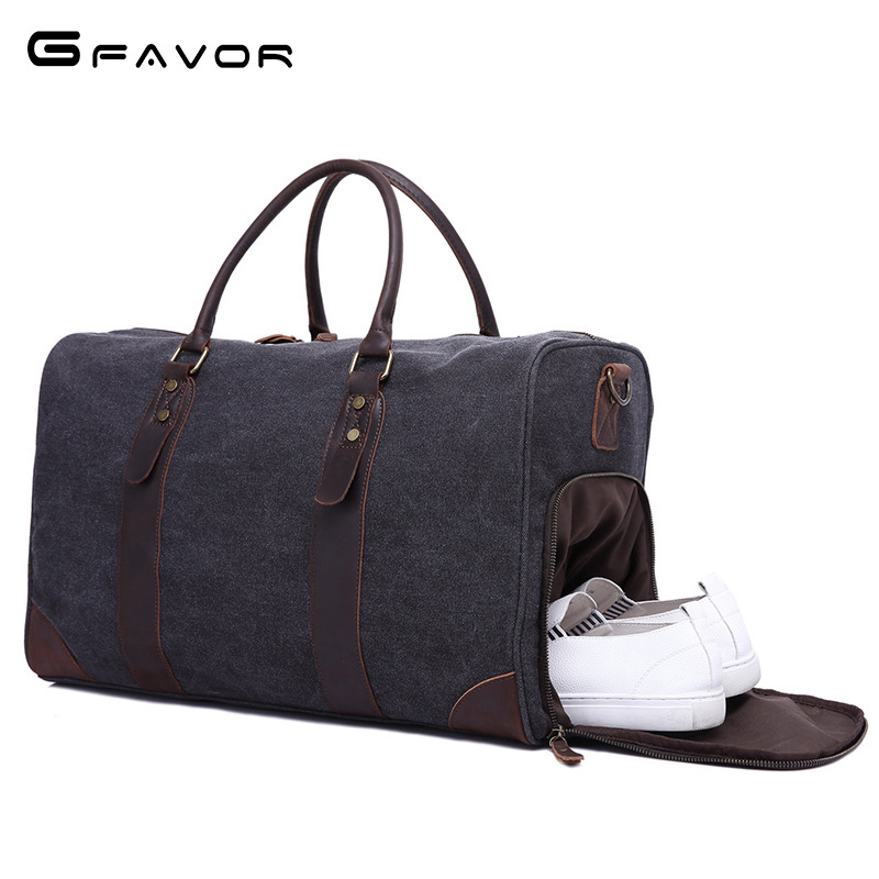 2018 new fashion Canvas Leather Men Travel Bags Carry on Luggage Bags Men Duffel Bags Travel Tote Large Weekend Bag Overnight mybrandoriginal travel totes wax canvas men travel bag men s large capacity travel bags vintage tote weekend travel bag b102