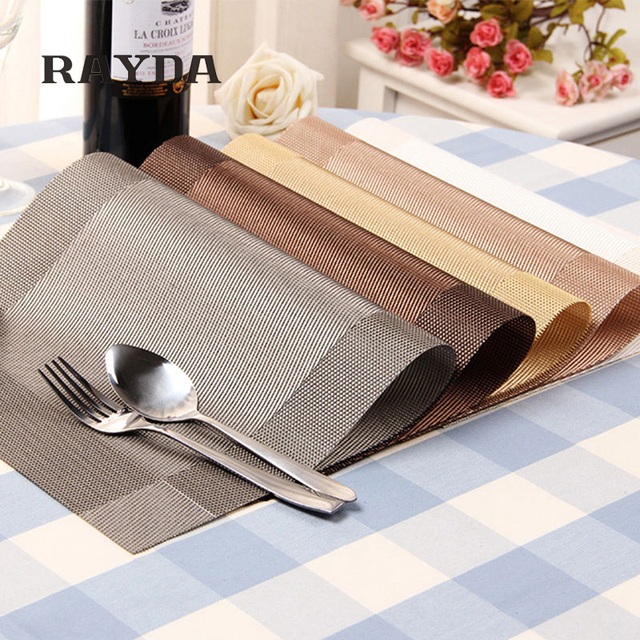 1pc Table Mats Placemat 8 Colors Decoration PVC Kitchen Table Mats Dinning Waterproof  Table Cloth