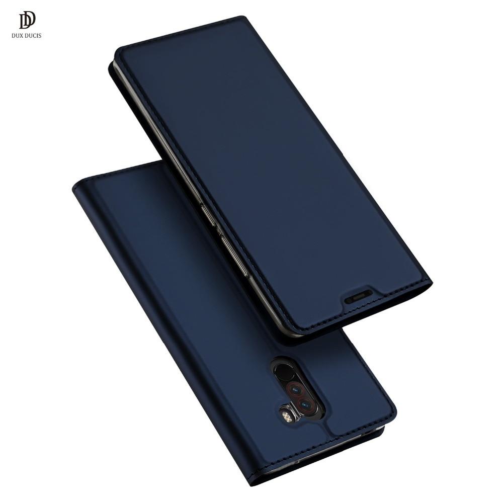 DUX DUCIS leather Case for Xiaomi Pocophone F1 Luxury Flip leather Case for xiaomi poco f1 6.18 Luxury Flip leather Case Funda