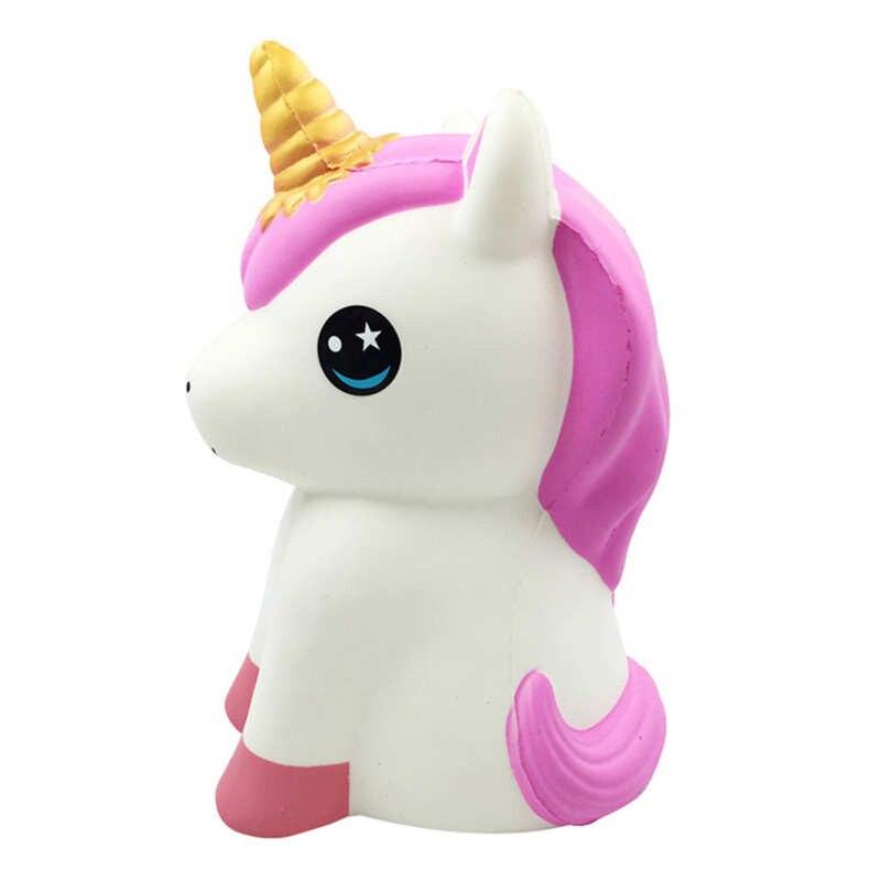 30 cm Grand jouets spongieux Licorne Cheval Doux Lente hausse Jouets PU Cheval de Bande Dessinée Jouets à Presser Pour Enfants Drôle Cadeaux Antistress