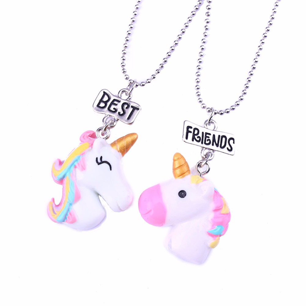 Bulk Resin Jewelry Skeins Best Friends Bff For 2 Animal Hose Unicorn Pendant