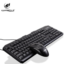 USB Wired Keyboard and Mouse Combos ,104-Key Keyboard Set For PC ,1000 DPI Mouse Kit For Home Office Laptop Desktop Computer