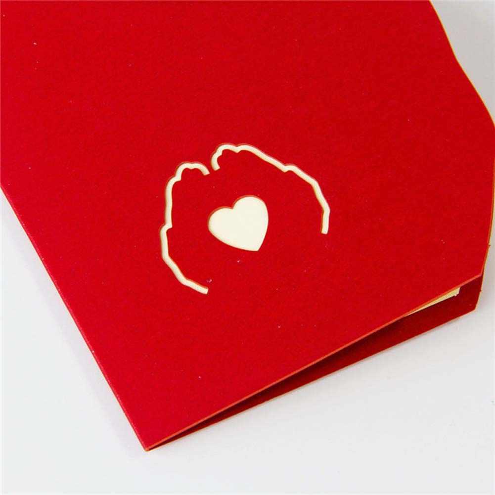 3D creativo hecho a mano amor en el poste de la mano tarjetas plegables boda San Valentín cumpleaños regalo del Día de la madre nueva llegada