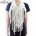 Chran Fashion Women Full Body Multi Layer Faux Pearl Statement Necklace Chain Slave Necklace Body Chain Halter Jewelry  BDC201