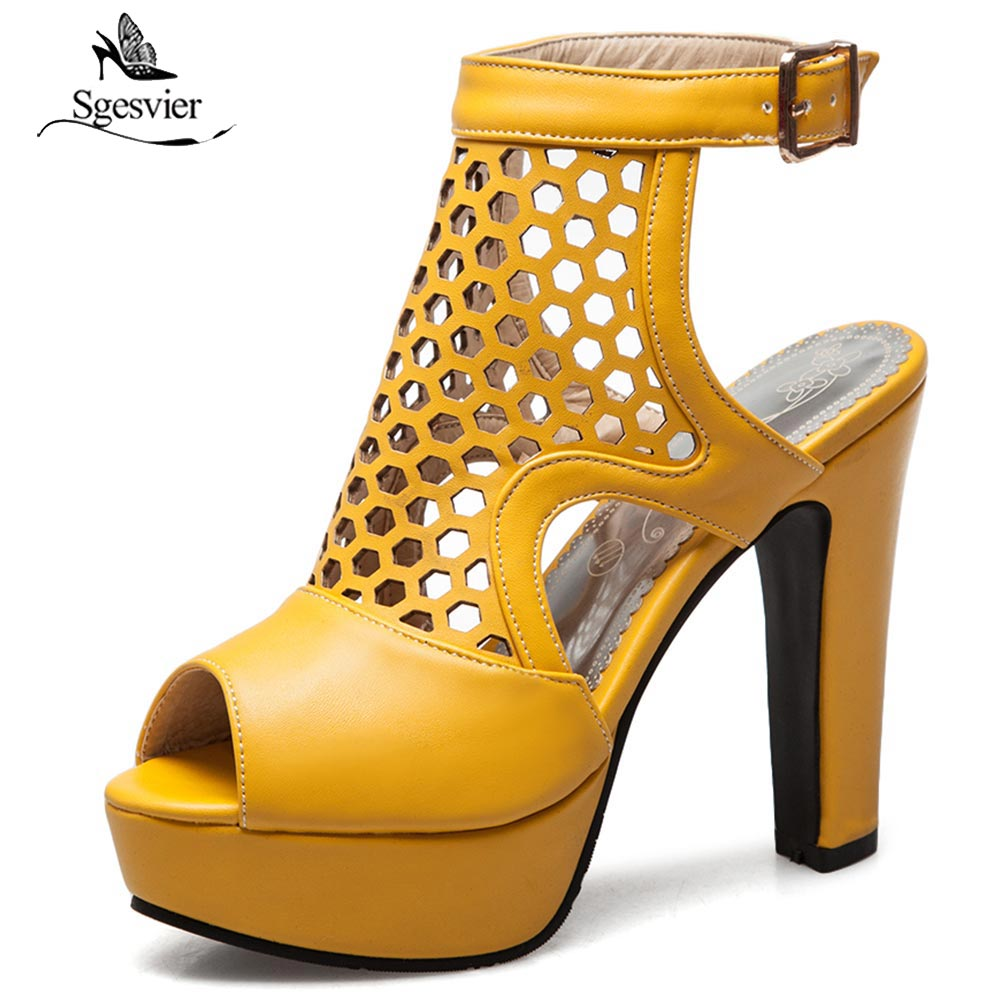 SGESVIER Women Shoes Sandals Thick High Heels Peep Toe Gladiator Cut Outs Summer Shoes Ankle Strap Slingbacks Shoes Woman OX381SGESVIER Women Shoes Sandals Thick High Heels Peep Toe Gladiator Cut Outs Summer Shoes Ankle Strap Slingbacks Shoes Woman OX381