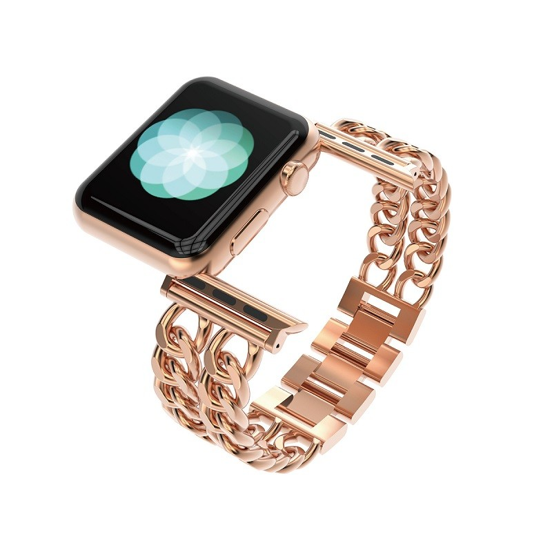 Rose Gold stainless Steel Bracelet Strap Fashion for Apple Watch Band 42mm Luxury iWatch Bands Wristbands for iWatch Series 38mm iwatch 2015