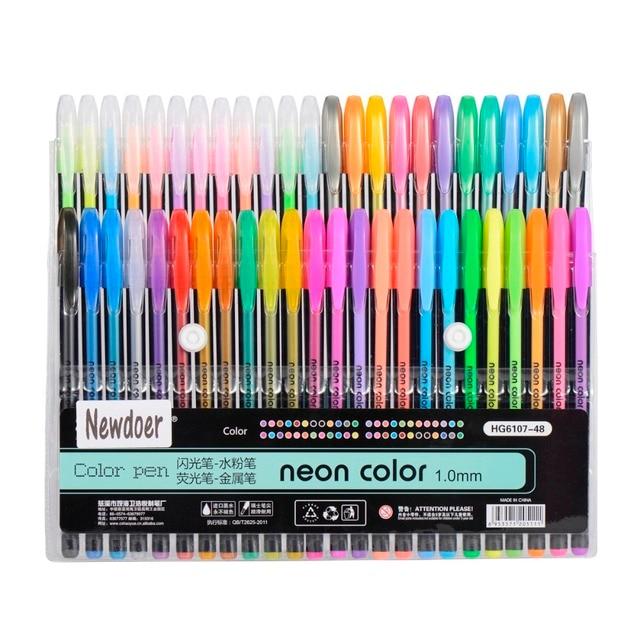 12 colors 24 colors 36 colors 48 colors color gel ink pens the best gel