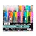Newdoer 48 Paquetes de Color Plumas de Gel de Tinta, El Mejor Gel Pens Set para Adultos Libros de Colorear, Dibujar, y Escribir, con 1.0mm de Punta de Gama