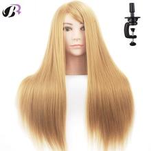"Venta caliente 26 ""Mannequin Head para peluquería peluca Manik Hairdressing Dummy Doll Jefes cabello humano Styling Mannequins Entrenamiento"