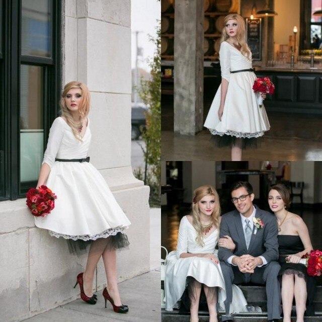 Vestido novia invierno corto