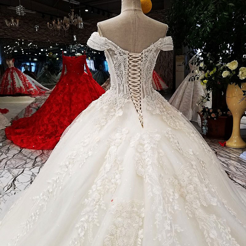 Image 5 - AIJINGYU Sexy Wedding Dresses Short Gown Bridal Lace Organza Cheap Off White Second Marriage Gowns Designer Wedding DressWedding Dresses   -
