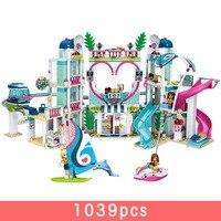 1039pcs legoiNGs Girl Heart Lake City Resort Block Assembly Building Block Children Play Games Christmas Kids Gift figure Toys