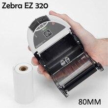 Известный принтер головка Zebra EZ320 мобильный принтер штрих-кода Bluetooth 80 мм переносной Термопринтер для печати этикеток и мини-чек принтер