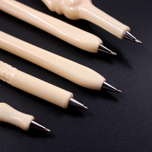 Jonvon Satone 50pcs Creative Ballpoint Pen Bone Ball Pens Student Stationery Gift School Office Stationery Blue Refill Wholesale