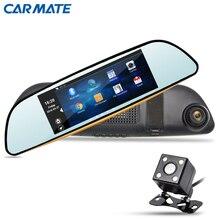 """Nuevo 6.86 """"coche DVR Grabador GPS de Navegación de Automóviles Espejo de Vídeo DVR Dash Cam HD 1080 P Cámara de Doble Lente de Espejo Retrovisor"""