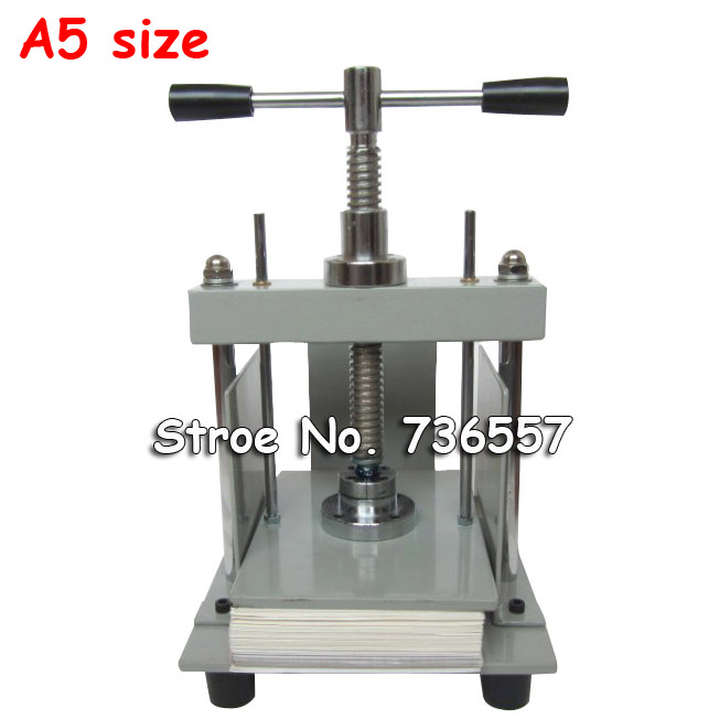 A5 size Manual flat paper press machine for photo books, invoices, checks, booklets, Nipping machine