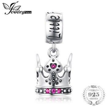 400558705069 JewelryPalace princesa corona creada rubí 925 cuentas de plata de ley 2018  nuevo gran venta hermoso regalo joyería fina para niña