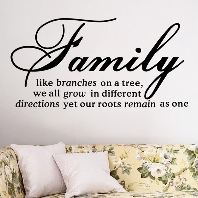 Dctop Family Like Branches On A Tree Quotes Wall Stickers Living