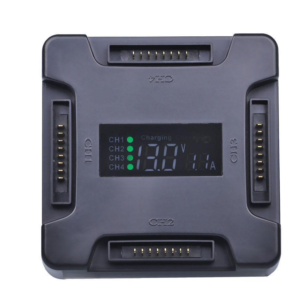 PowerTrust 4-in-1 Smart Multi Battery Intelligent Charging Hub with LED Display Charging Indicator for DJI Mavic Pro Drones