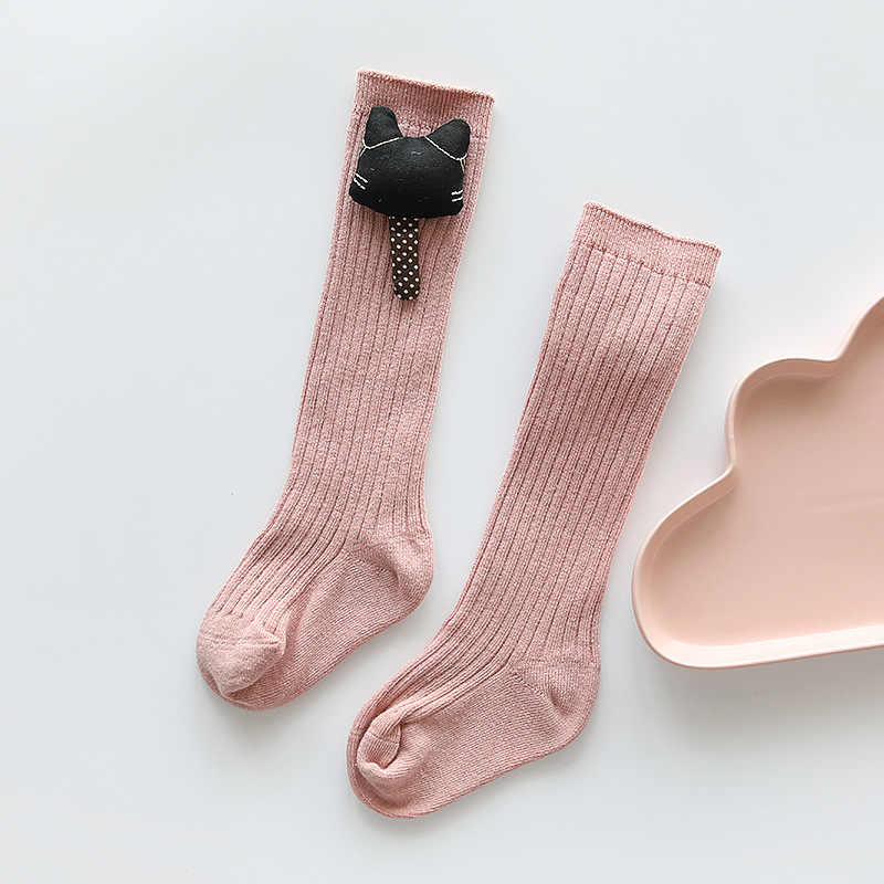 Knee Socks For Girls Cotton Fashion Knee High Socks Girl Unisex Cartoon Socks For Boys Baby Clothes Accessories