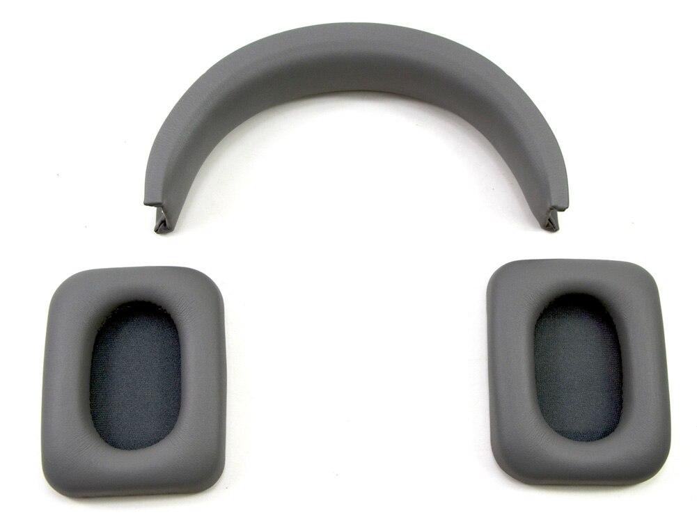 bilder für Ersatz Ohrpolster und Stirnband Reparatur Set für Monster Inspiration Noise Cancelling Über-ohr Kopfhörer (Grau)