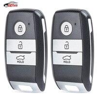 KEYECU 2 adet akıllı yedek uzaktan araba anahtarı Fob 433MHz ID46 çip Kia Optima Sportage 2014 2016 orijinal parça NO: 95440 3W600|Araç Anahtarı|Otomobiller ve Motosikletler -