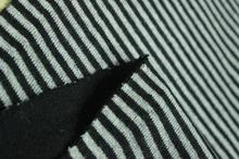 Thick double-sided black gray striped knit fabric coat ,printing Textile hollandais african sequin christma tissu A069