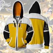 3d Print Kingdom Hearts Sora Riku Ventus Game Sweatshirts Hoodie Cosplay Costume Jackets Men Top Coat Zipper Casual Hoded