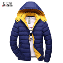 5XL Winter Jackets Men 2017 New Warm Cotton Padded Jacket Men Solid Slim Fit Windbreaker Hooded Parka Coat Men Free Shipping