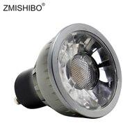ZMISHIBO затемнения GU10 светодиодный прожекторы cob-лампы 220 в 230 5 Вт MR16 чашка 50 мм 38 ° для внутреннего Применение 3000 K 4000 K 6000 K симисторное затемнени...