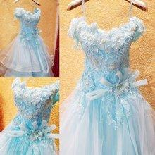 Elegante Ballkleid Spitze Applique Abendkleid 2016 Mode weg-schulter Perlen Abendkleid Robe De Soiree Longue RE18