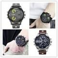 Homens de luxo da marca Relógios Pulseira de Couro Relógio de Quartzo reloj hombre montre dz Militar Esportes Relógio masculino relogio masculino